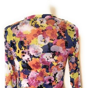 Cable & Gauge Tops - Cable & Gauge blouse, Sz Small, multicolored